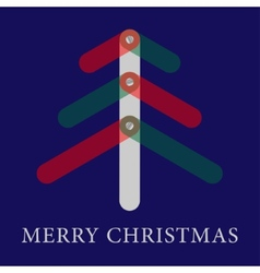 Christmas greeting card with translucent three vector image