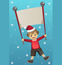 christmas kid vector image