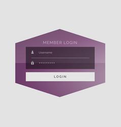 creative member sign in form ui design vector image