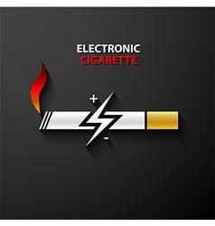 Electronic cigarette icon vector