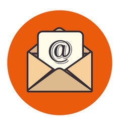 envelope mail concept isolated icon vector image