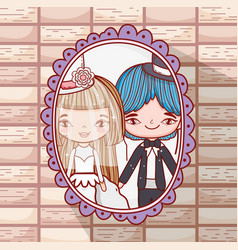 girl and boy romantic marriage pictures vector image