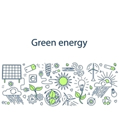Green energy banner vector