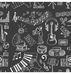 Hand drawn music pattern vector