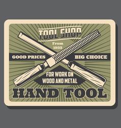 Handyman work hand tools shop vector