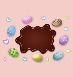 Happy easter background pastel eggs texture vector
