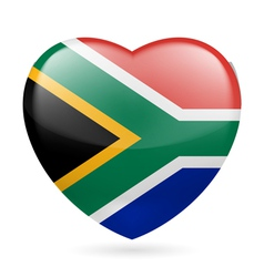 Heart icon of South Africa vector image