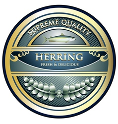 Herring Gold Label vector image