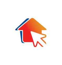 House pointer arrow logo vector