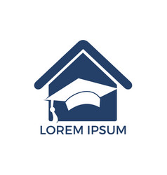 house school education logo design vector image