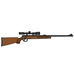 hunting rifle with a telescope vector image