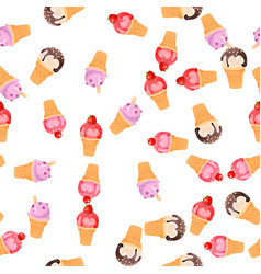 ice cream vector image