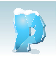 Ice letter p vector