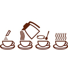 Instant Coffee Prep Icon vector