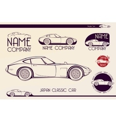 Japan Classic Sports Car Silhouettes Vector ...