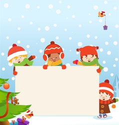 Kids Christmas Message vector image