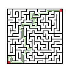 labyrinth shape design element vector image