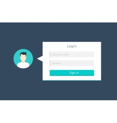 Login Form vector image