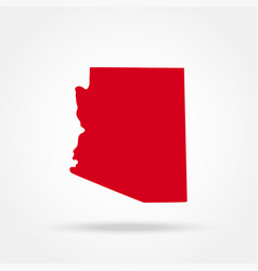 map us state arizona vector image