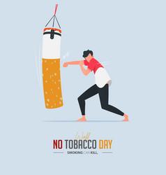 may 31st world no tobacco day poster design vector image