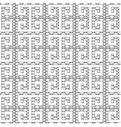 meander greek key seamless pattern isolated black vector image