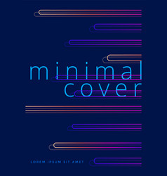 minimal covers design with neon gradient shapes vector image