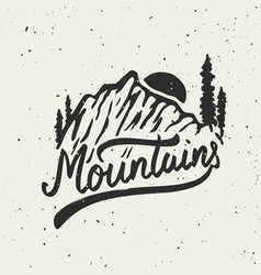 Mountains mountain on grunge background vector