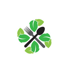 natural restaurant graphic design template vector image