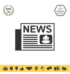 newspapers icon symbol vector image
