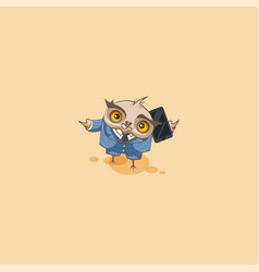 Owl in business suit with smart phone vector