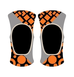 Pair of knee sport protectors activity equipment vector image