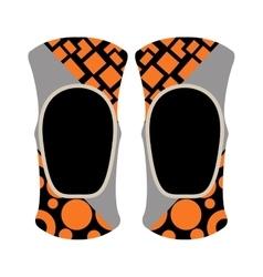 Pair of knee sport protectors activity equipment vector