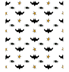 Pattern of halloween element patches vector