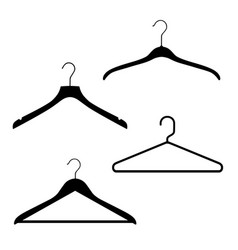 plastic and metal wire coat hangers clothes vector image