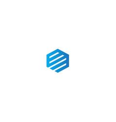 polygon line logo vector image