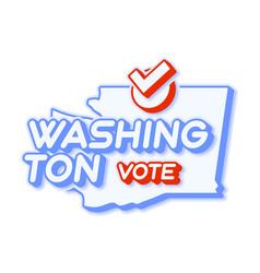 Presidential vote in washington usa 2020 state vector