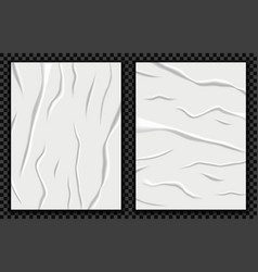 realistic badly glued paper vector image