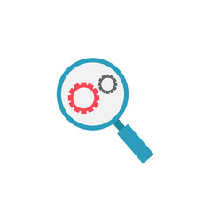 Research optimization flat icon vector