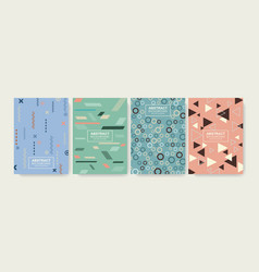 Retro design templates for a4 covers banners vector