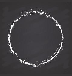 Round frame grunge textured hand drawn element on vector