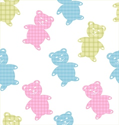 Seamless bears pattern vector image