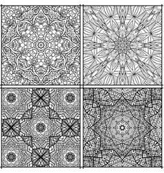 seamless black and white tiled moroccan pattern vector image
