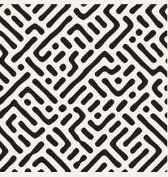 seamless maze pattern monochrome organic shapes vector image