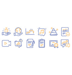 Set education icons such as chemistry lab vector