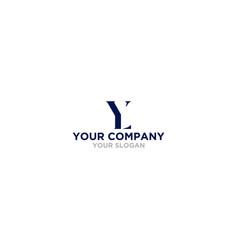 simple yl logo design vector image