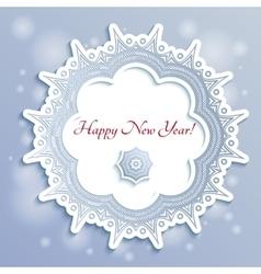 Snowflake New Year Card vector image