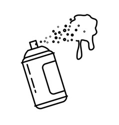 spray bottle or paint can isolated line icon vector image
