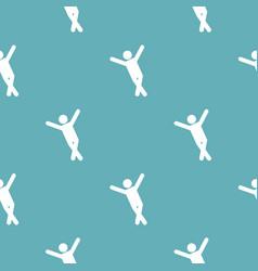 stick figure stickman pattern seamless vector image