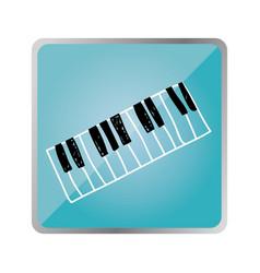 symbol piano instrument icon vector image