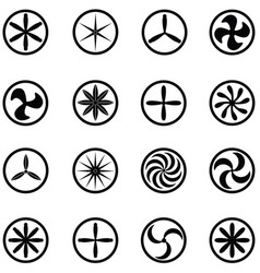 Turbine icon set vector